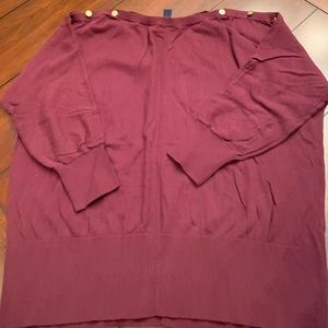 Burgundy boat neck sweater from the Gap